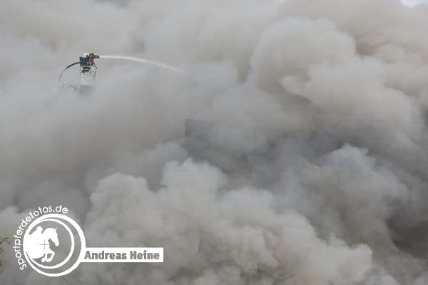 Großbrand Schlachthof Halle Saale - 17.05.2015