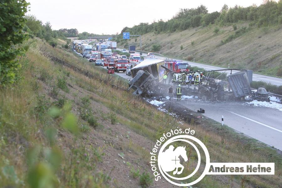 BAB 14 - Unfall mit mehreren Verletzten